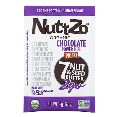 Купить Nuttzo Organic, Paleo Power Fuel, 7 Nut & Seed Butter, 2Go, 10 Packs, .67 oz (19 g) Each