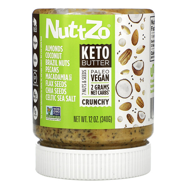 Nuttzo, Keto Butter, 7 Nuts & Seeds, Crunchy, 12 oz (340 g)