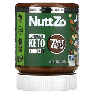 Nuttzo, 7 Nut & Seed Butter, Chocolate Keto Crunchy, 12 oz (340 g)
