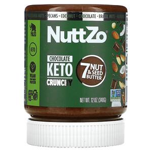 Nuttzo, 7 堅果和籽脂,巧克力生酮脆,12 盎司(340 克)