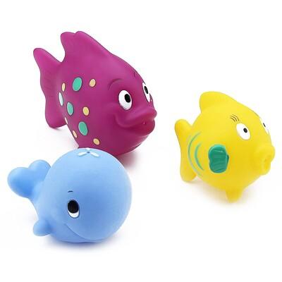 Nuby 好好玩噴水魚洗澡玩具,6個月以上,一套3個