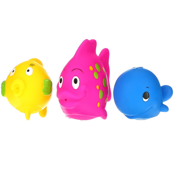 Fun Fish Squirters, 6+m, 3 Pack
