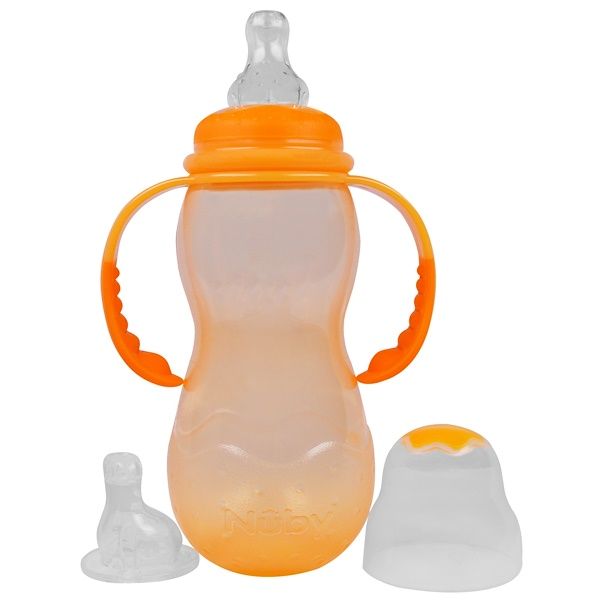 Nuby, Non-Drip, Standard Neck, 3+ Months, 11 oz (320 ml) (Discontinued Item)