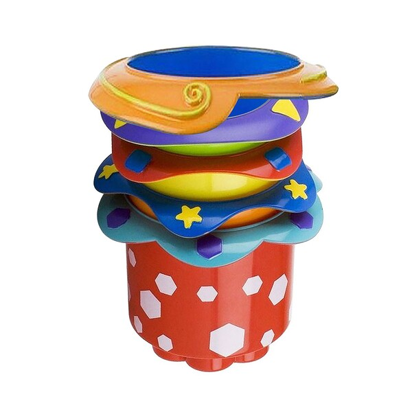 Nuby, Splish Splash Stacking Cups, 9 + Months, 5 Cups (Discontinued Item)