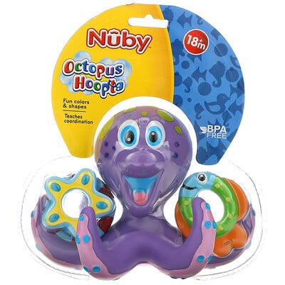 Купить Nuby Bath Toy, Octopus Hoopta, 18+ M, 1 Count