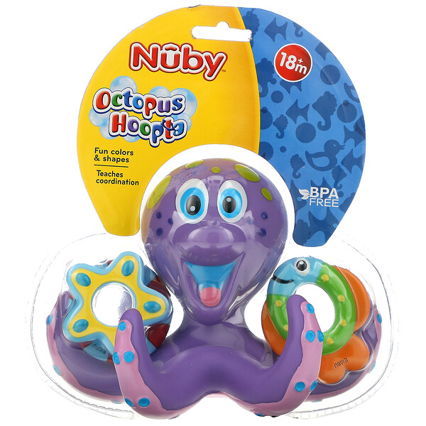 Bath Toy, Octopus Hoopta, 18+ Months, 1 Count