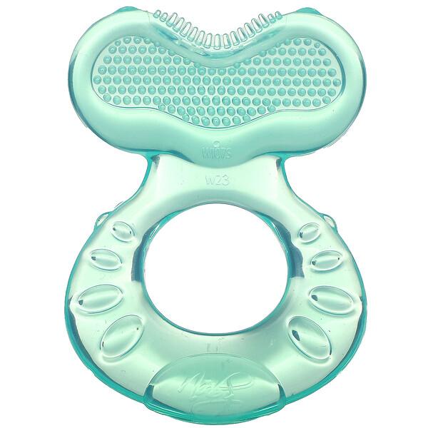 Soothing Teether, Teeth Eez, 3+M, Aqua, 1 Teether