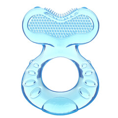 Nuby, Teethe Eez,舒緩出牙嚼器,3 個月以上,藍色