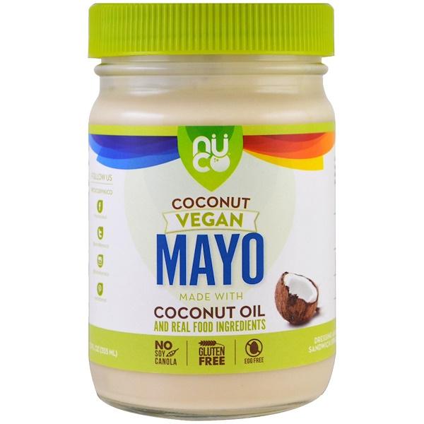 NUCO, Веганский кокосовый майонез, 12 ж. унц. (355 мл) (Discontinued Item)