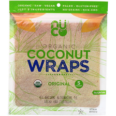 NUCO, Organic Coconut Wraps, Original, 5 Wraps (14 g) Each