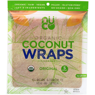 NUCO, Organic Coconut Wraps, Original, 5 Wraps (14 g) Each