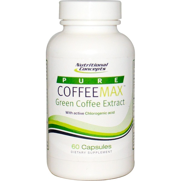 NUCO, Pure CoffeeMax, Green Coffee Extract, 60 Capsules (Discontinued Item)