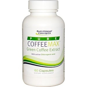Нутритионал Концептс, Pure CoffeeMax, Green Coffee Extract, 60 Capsules отзывы покупателей