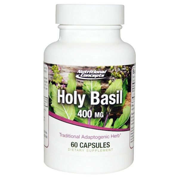 NUCO, Holy Basil, 400 mg, 60 Capsules (Discontinued Item)