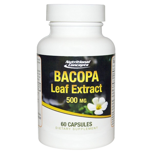 NUCO, Bacopa Leaf Extract, 500 mg, 60 Capsules (Discontinued Item)