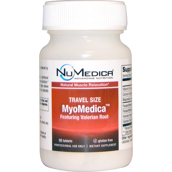 Numedica, MyoMedica, Featuring Valerian Root, Travel Size, 10 Tablets (Discontinued Item)
