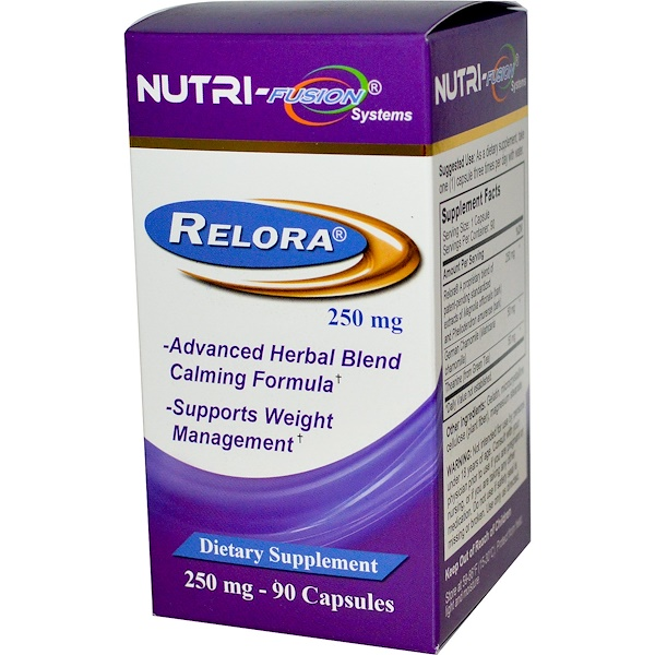 Fusion Diet Systems, Relora, 250 mg, 90 Capsules (Discontinued Item)