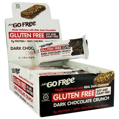 Купить NuGo Nutrition Хрустящие батончики без глютена, покрытые темным шоколадом, 12 батончиков по 45г каждый