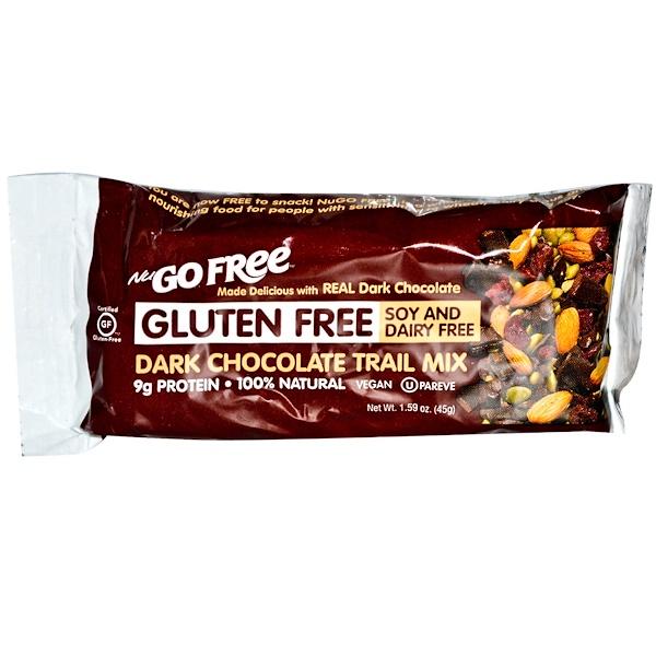 NuGo Nutrition, Free, Gluten Free Dark Chocolate Trail Mix Bar, 1.59 oz (45 g) (Discontinued Item)