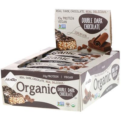 Купить Органический двойной темный шоколад, 12 органических белковых батончиков, 1, 76 унции (50 г) каждый