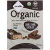 NuGo Nutrition, شوكولاتة داكنة مزدوجة عضوية، 12 قطعة بروتين عضوية، 1.76 أونصة (50 جم) للواحدة