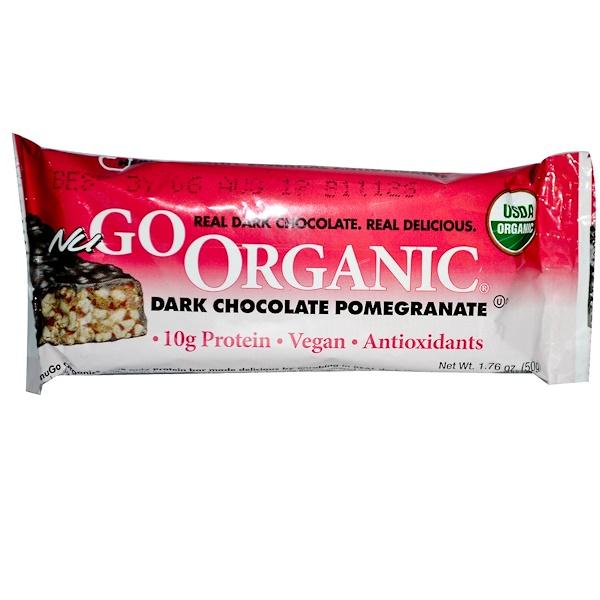 NuGo Nutrition, Organic Protein Bar, Dark Chocolate Pomegranate, 1.76 oz (50 g) (Discontinued Item)