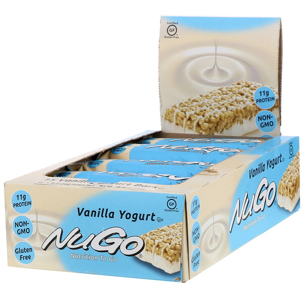 Nutrition To Go, Vanilla Yogurt, 15 Bars, 1.76 oz (50 g) Each