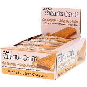 Нуго Нутришэн, Smarte Carb Bar, Peanut Butter Crunch, 12 Bars, 1.76 oz (50 g) Each отзывы покупателей