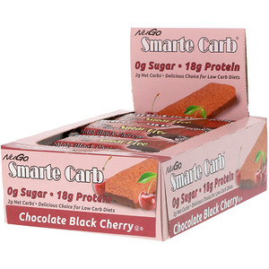 Нуго Нутришэн, Smarte Carb Bar, Chocolate Black Cherry, 12 Bars, 1.76 oz (50 g) Each отзывы покупателей