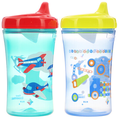 NUK First Essentials, Hard Spout Cup, 12+ Months, 2 Cups, 10 oz (300 ml) Each