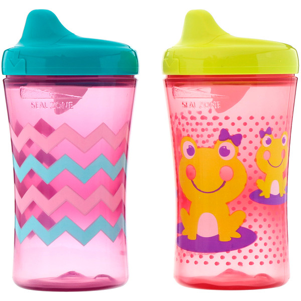 NUK, Advance Developmental Cups, 12+ Months, Girl, 2 Cups, 10 oz (300 ml) Each (Discontinued Item)