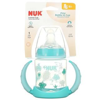 NUK, Learner Cup, 6+ Months, Aqua, 1 Cup, 5 oz (150 ml)