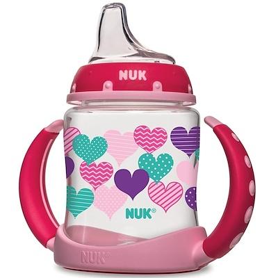NUK 學習杯,6個月以上,心形圖案,1個杯子,5盎司(150毫升)