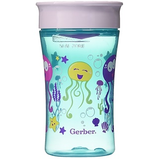 NUK, Magic 360, Magical Spoutless Cup, 12+ Months, Girl, 1 Cup, 10 oz (300 ml)