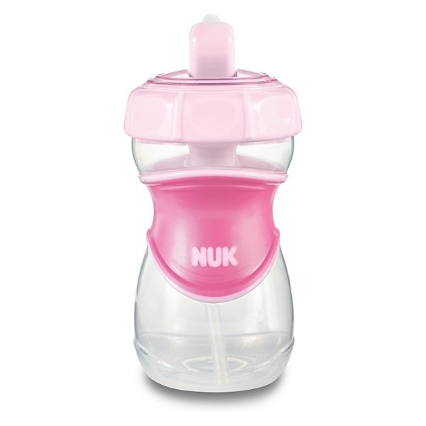 NUK, Everlast Straw Cup, Pink, 12+ Months, 1 Cup, 10 oz (300 ml) (Discontinued Item)