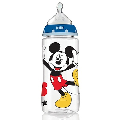 Disney Baby, Mickey Mouse Perfect Fit Bottles, Medium, 0+ Months, Grey, 3 10 oz (300 ml) Each