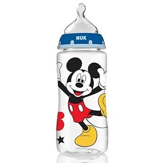 NUK, Disney Baby, Orthodontic Bottles, Medium, Blue, 0+ Months, 3 Bottles, 10 oz (300 ml) Each