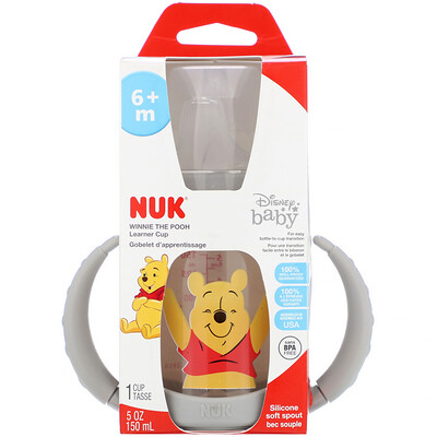 Disney Baby, Learner Cup, Winnie The Pooh, 6+ Months, 1 5 oz (150 ml)