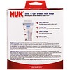 NUK, Seal 'n Go, пакеты для грудного молока, 100 стерильных пакетов для хранения, 6 унций (180 мл) каждый