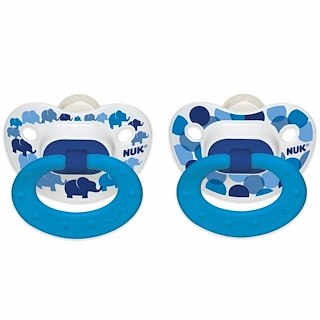 NUK, Confetti, Orthodontic Pacifier, 6-18 Months, Elephants, 2 Pack