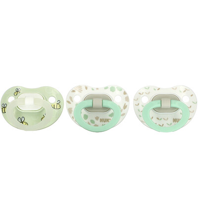 Купить NUK Orthodontic Pacifier Value Pack, , 0-6 Months, Green, 3 Pack