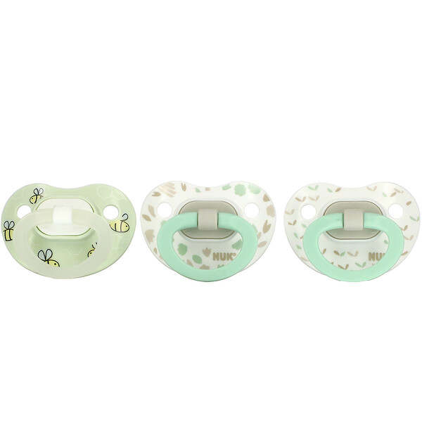 Orthodontic Pacifier Value Pack,, 0-6 Months, Green, 3 Pack
