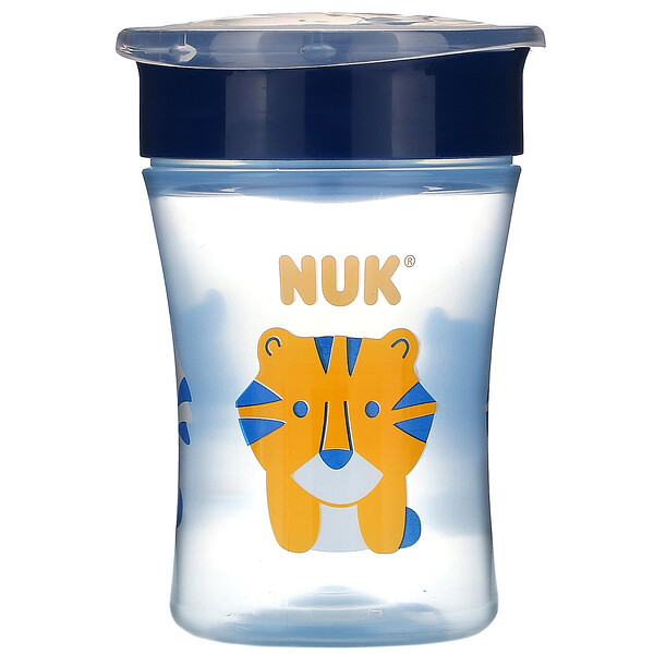 NUK, Evolution 360 Cup, Blue, 8+ Months, 1 Cup, 8 oz (240 ml) (Discontinued Item)