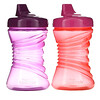NUK, First Essentials, Fun Grips Hard Spout, Pink/Purple, 12+ Months,  2 Cups