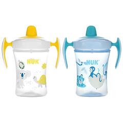 NUK, Evolution 學飲杯,6 個月以上,2 杯,8 盎司/杯
