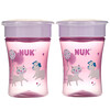 NUK, Evolution 360 Cup, 8+ Months, Pink, 2 Pack, 8 oz (240 ml) Each