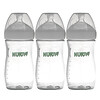 NUK, Simply Natural, Bottles, White, 1+ Months, Medium, 3 Pack, 9 oz (270 ml) Each
