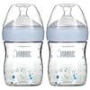 NUK,  Simply Natural Bottles, 0+ Months, Slow, 2 Bottles, 5 oz (150 ml) Each