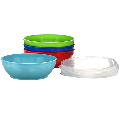 NUK First Essentials Bunch-a-Bowls, 4+ Months, 4 Bowls and Lids