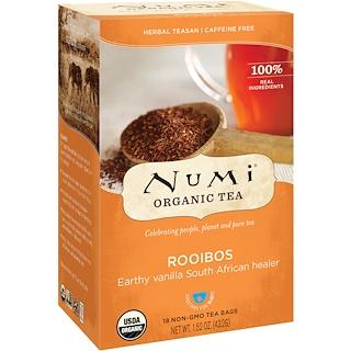 Numi Tea, オーガニック ティー、ハーバル ティーサン、ルイボス、カフェインレス、ティーバッグ18個、1.52 oz (43.2 g)